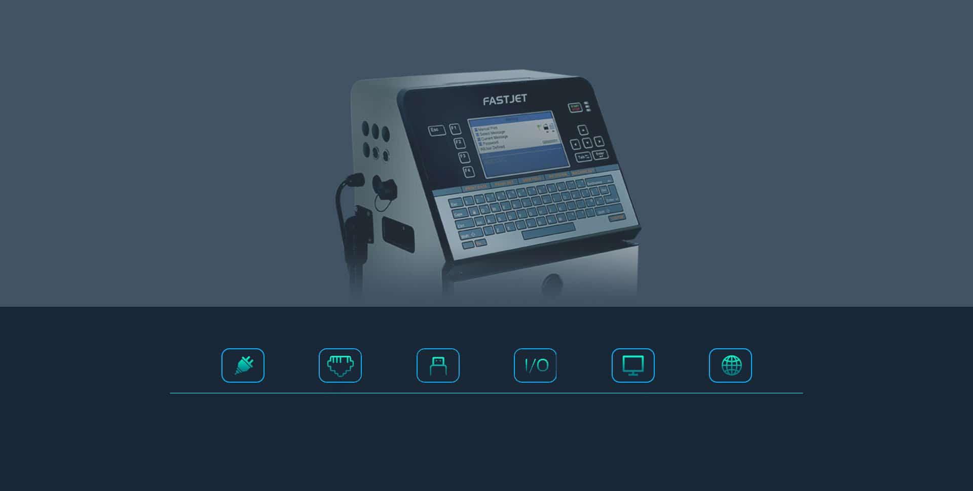 Краплеструменевий маркувальник Fastjet F550 Plus Fastjet F530 Plus інтерфейси