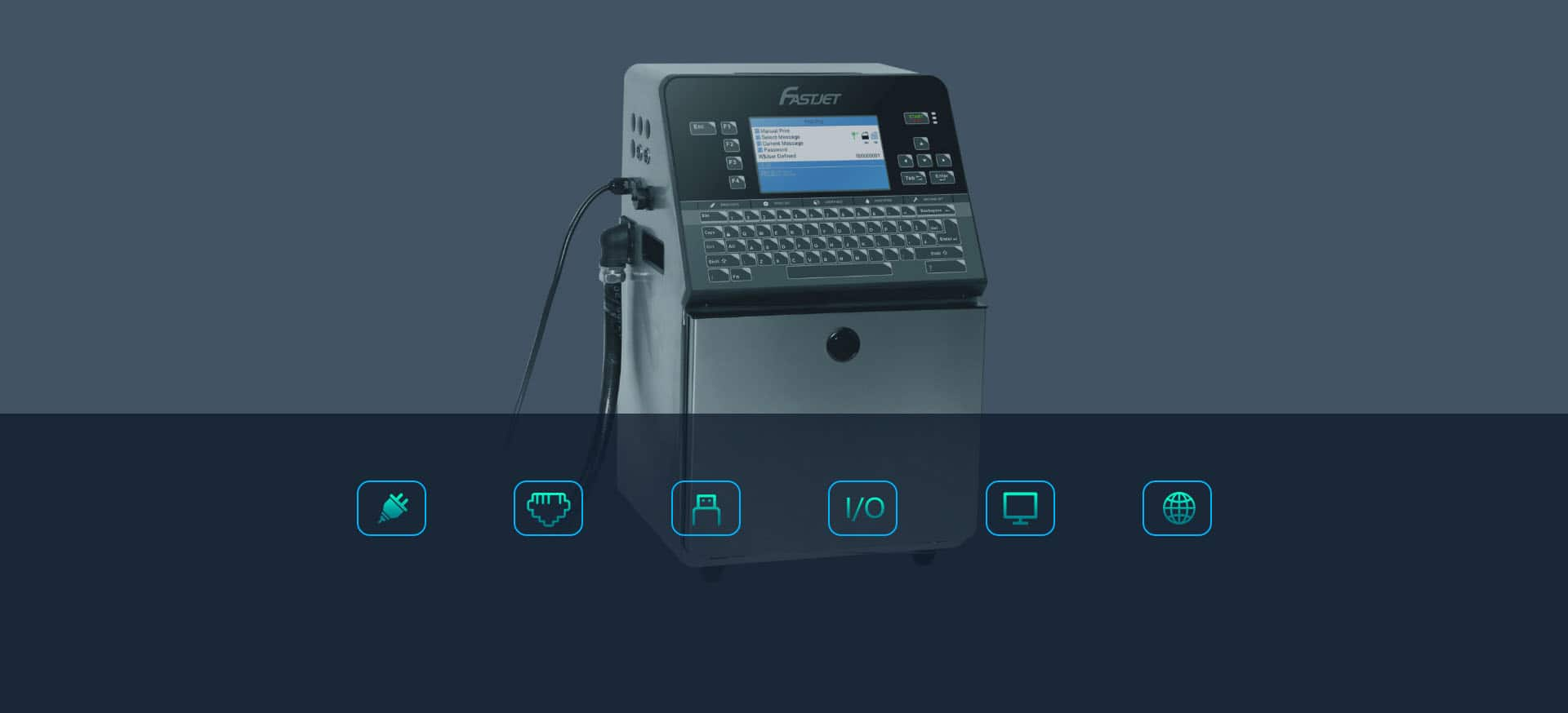 Краплеструменевий маркувальник Fastjet F560 Fastjet F540 інтерфейси