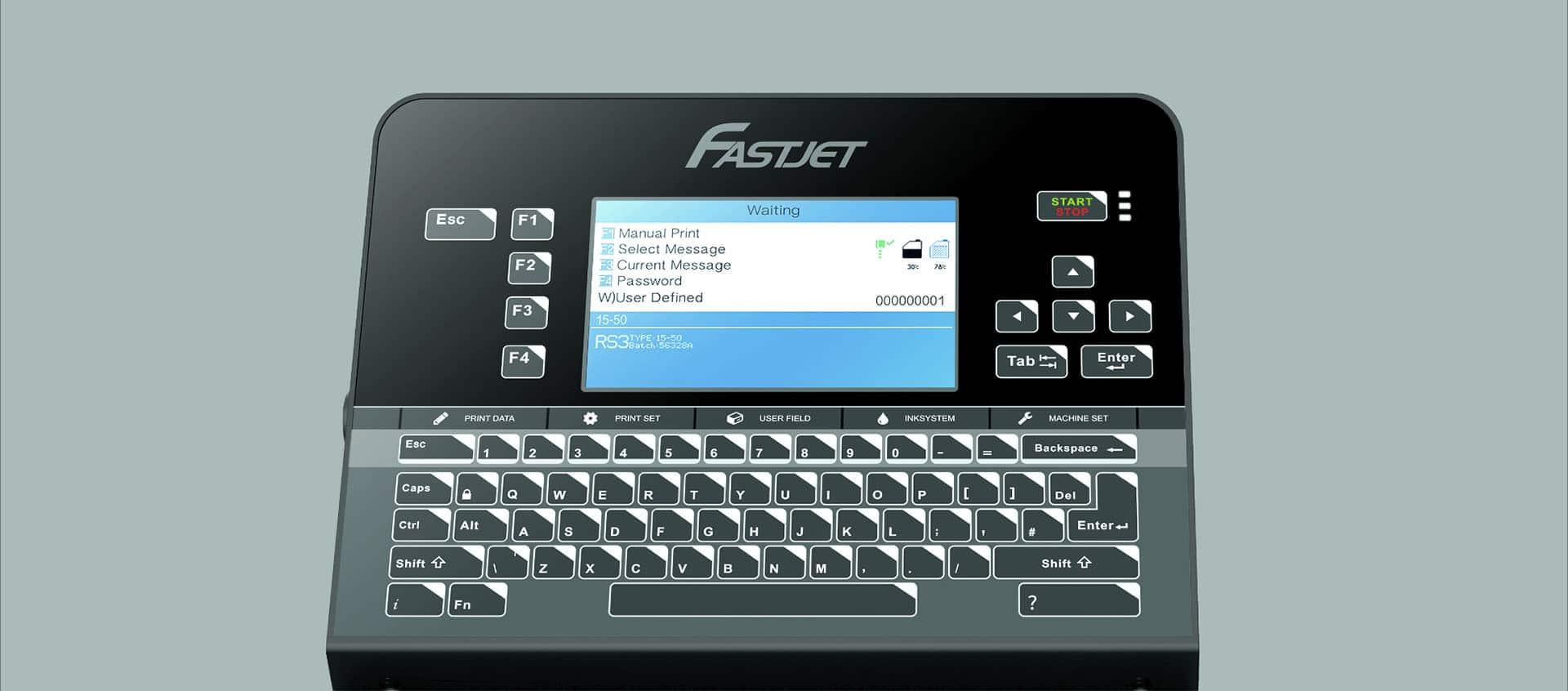 Краплеструменевий маркувальник Fastjet F560 Fastjet F540 передня панель